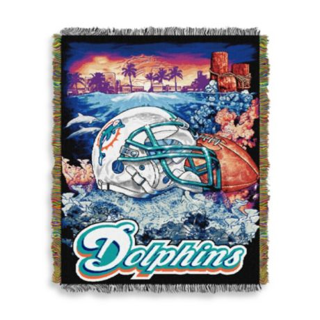 Nfl Miami Dolphins Tapestry Throw Bed Bath Amp Beyond