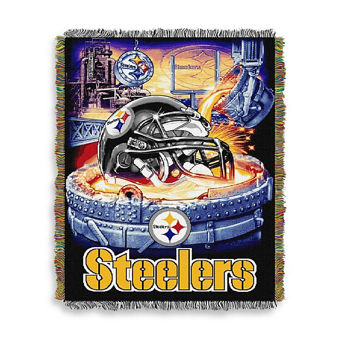 pretty nice 2d77d b03e0 NFL Pittsburgh Steelers Tapestry Throw | Bed Bath & Beyond