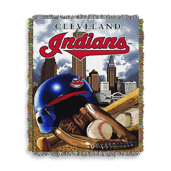 Alternate image 1 for MLB Cleveland Indians Tapestry Throw
