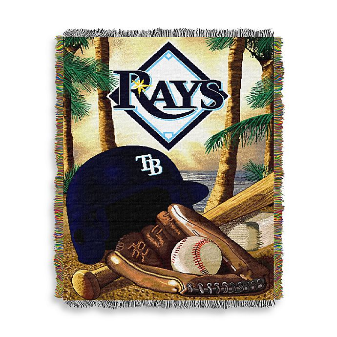 Alternate image 1 for MLB Tampa Bay Rays Tapestry Throw