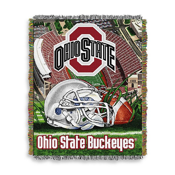 Alternate image 1 for Ohio State University 48-Inch x 60-Inch Tapestry Throw Blanket