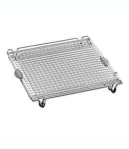 Rack expandible Artisanal Kitchen Supply® en plata