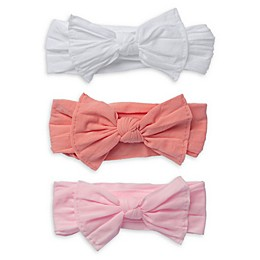 So 'dorable 3-Pack Bow Headbands in White/Red/Pink
