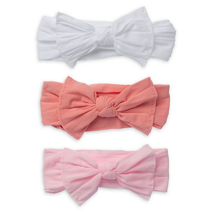 Alternate image 1 for So' Dorable 3-Pack Bow Headbands in White/Red/Pink