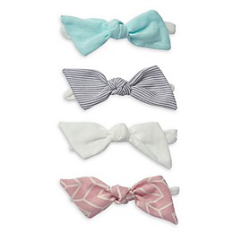 So 'dorable 4-Pack Bow Headbands in Teal/Blue/White/Pink