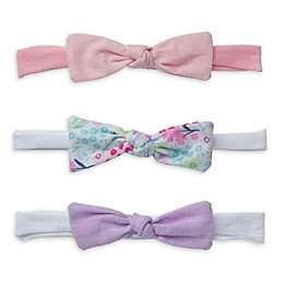 So 'dorable 3-Pack Bow Headbands in Purple/Pink/White