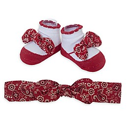 So 'dorable Bandana Headband and Bootie Set in Red