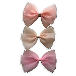 Curls & Pearls 3-Pack Sheer Bow Headbands