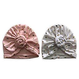 Curls & Pearls 2-Pack Donut Turban Hats