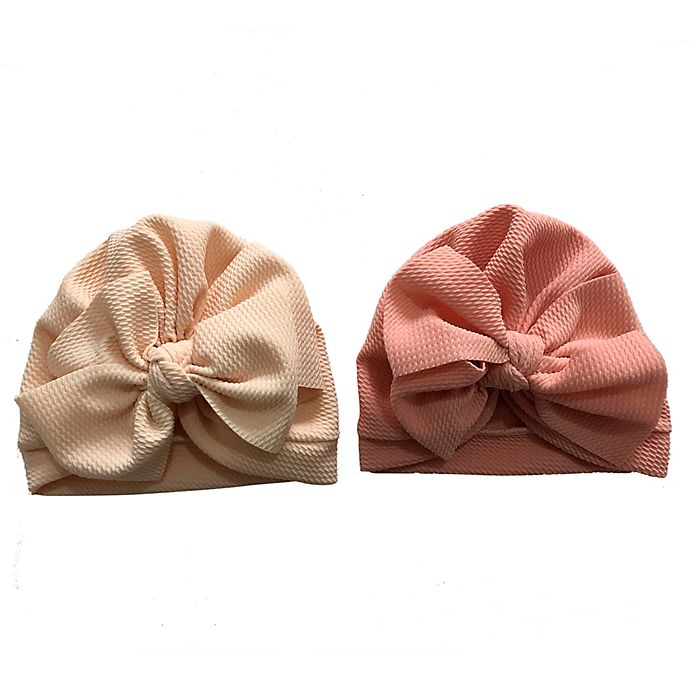 Alternate image 1 for Curls & Pearls 2-Pack Waffle Bow Hats