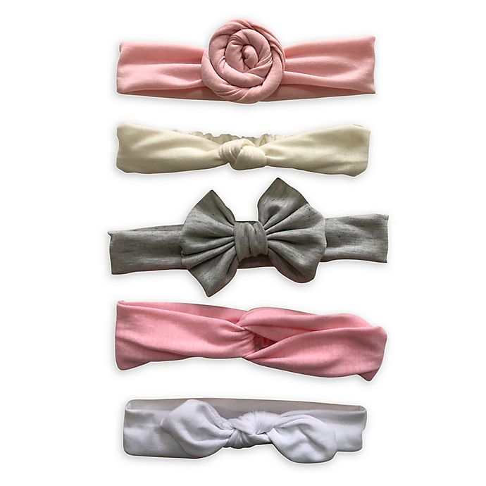 Alternate image 1 for Curls & Pearls 5-Pack Mixed Headbands
