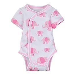 MiracleWear® Newborn Posheez Snap'n Grow Elephant Bodysuit in Pink