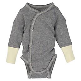 MiracleWear® Newborn Posheez Snap'n Grow Bodysuit in Grey/Yellow
