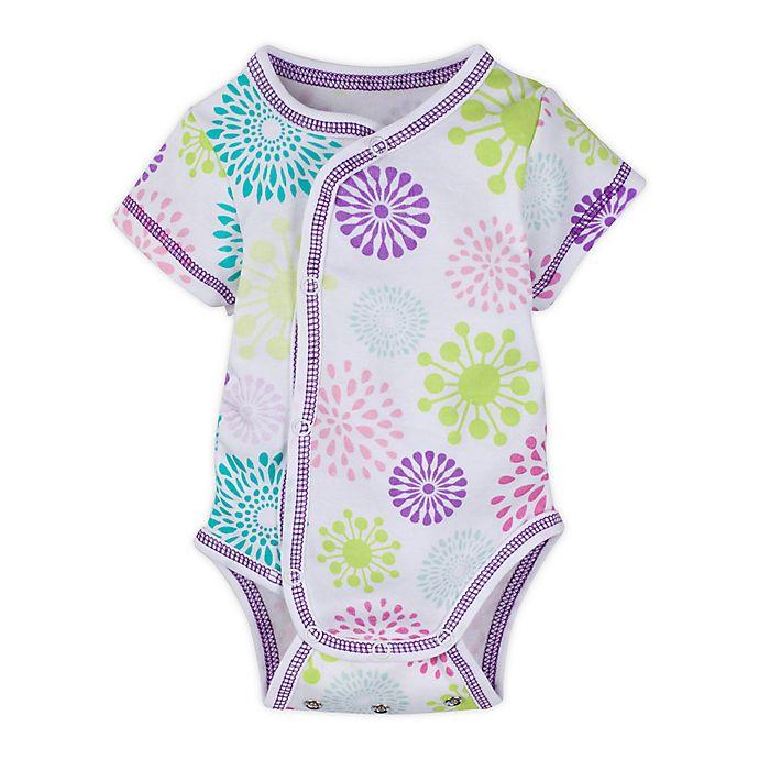 Alternate image 1 for MiracleWear® Newborn Posheez Snap'n Grow Colorful Burst Bodysuit