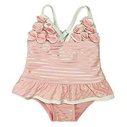 Floatimini Sparkle Ruffle One-Piece Swimsuit in Pink