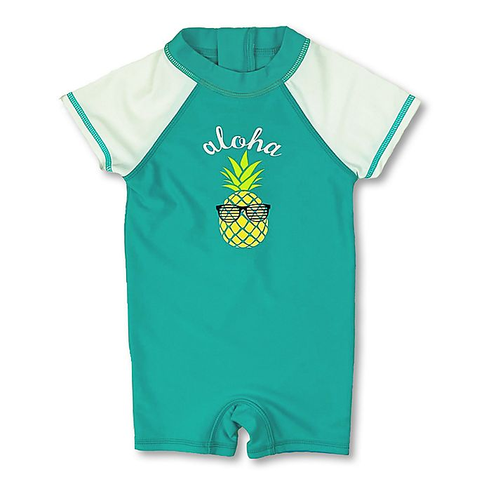 Alternate image 1 for Floatimini Pineapple Scuba Suit in Aqua