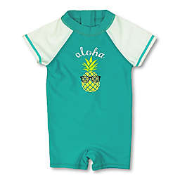 Floatimini Pineapple Scuba Suit in Aqua