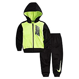 Nike® 2-Piece Volt Toddler Hoodie and Jogger Set in Black