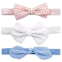 Khristie® 3-Piece Headband Set in Gingham/Jacquard/Strip