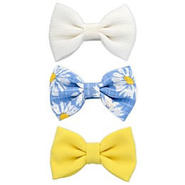 Khristie® 3-Pack Solid and Daisy Bow Hair Clips