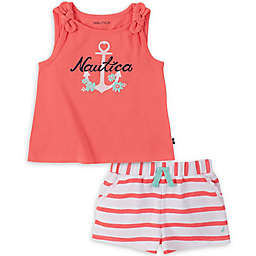 Nautica® 2-Piece Anchor Stripe Shirt and Short Set