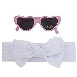 So 'dorable 2-Piece Heart Sunglasses and Bow Headband Set