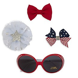 So 'dorable Americana Sunglasses and Hair Clip Set