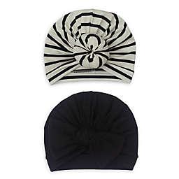 So 'dorable 2-Pack Turban Hats in Black/White