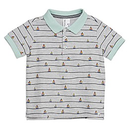 Sovereign Code® Sailboat Toddler Polo Shirt in Grey/Mint