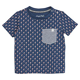 Sovereign Code® Flamingo Toddler Shirt in Navy