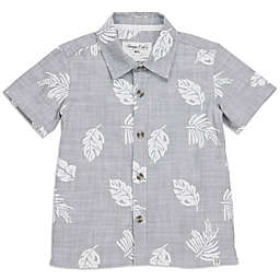 Sovereign Code™ Chambray Leaf Button-Front Shirt in Grey