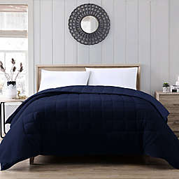 Therapedic® Lush Plush 12 lb. Weighted Twin Comforter in Navy