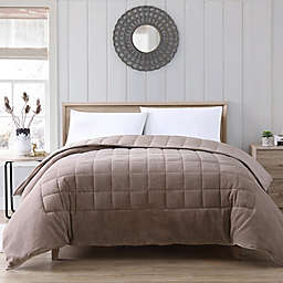 Therapedic® Lush Plush 12 lb. Weighted Twin Comforter in Taupe