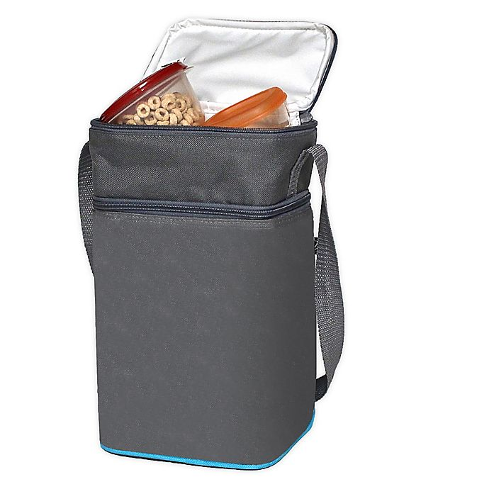 Alternate image 1 for J.L. Childress Insulated 6-Bottle Cooler in Grey/Teal