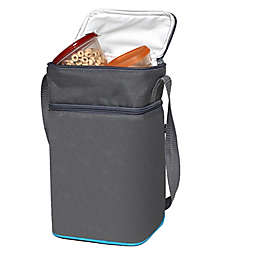 J.L. Childress Insulated 6-Bottle Cooler in Grey/Teal