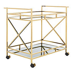 Safavieh Kehlani Bar Cart in Jade/Gold