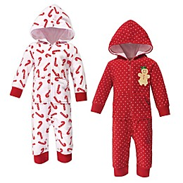 Hudson Baby® 2-Pack Fleece Hooded Coveralls