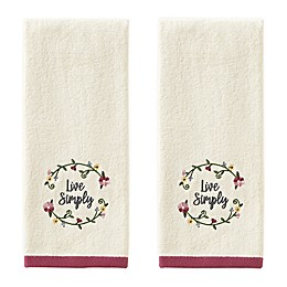 Avanti 2-Piece Live Simply Hand Towel Set