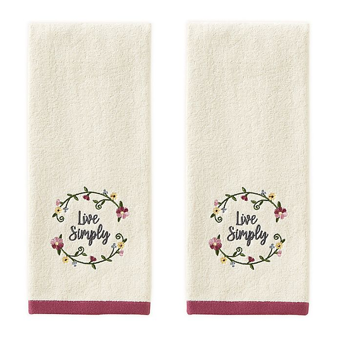 Alternate image 1 for Avanti 2-Piece Live Simply Hand Towel Set