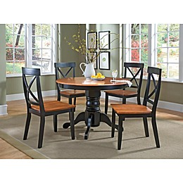 Home Styles Solid Wood 5-Piece Pedestal Table Dining Set