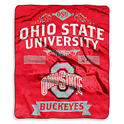 Ohio State University Raschel Throw Blanket