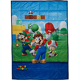 Super Mario 36-Inch x 48-Inch Reversible Weighted Blanket