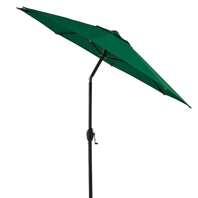 Alternate image 1 for 7-Foot Round Bistro Aluminum Umbrella in Green