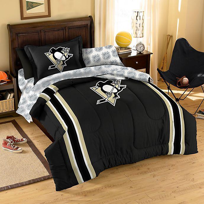Nhl Pittsburgh Penguins Complete Comforter Set Bed Bath Beyond