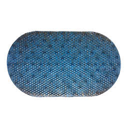 Oval PVC Tub Safety Mat in Blue