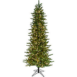 Fraser Hill Farm® 7.5-Foot Pine Artificial Christmas Tree with Clear LED Lights