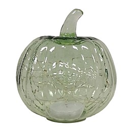 Bee & Willow™ Home 8-Inch LED Glass Pumpkin in Light Green