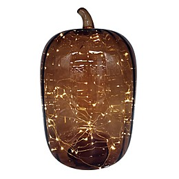 Bee & Willow™ Home Harvest Glass LED Pumpkin