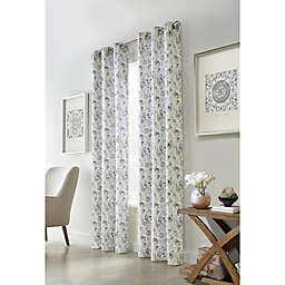 Moody Floral 2-Pack Grommet Light Filtering Window Curtain Panels