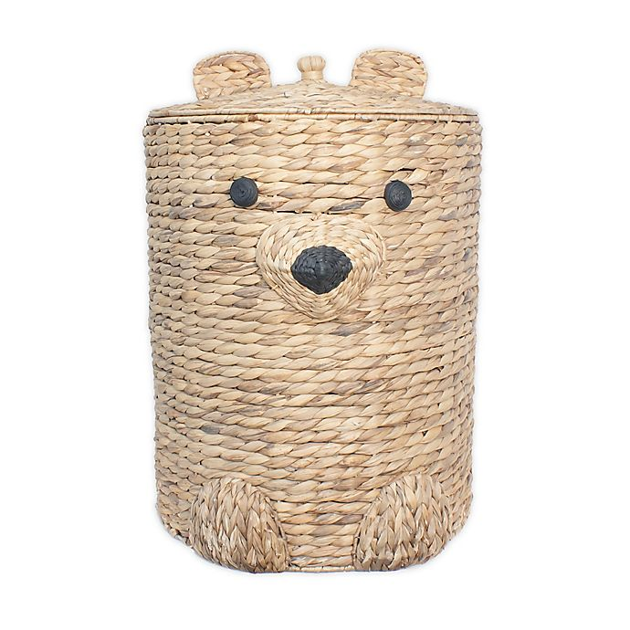 Alternate image 1 for Taylor Madison Designs® Water Hyacinth Bear Hamper in Natural